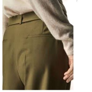 Massimo Dutti cropped cotton satin dress pants